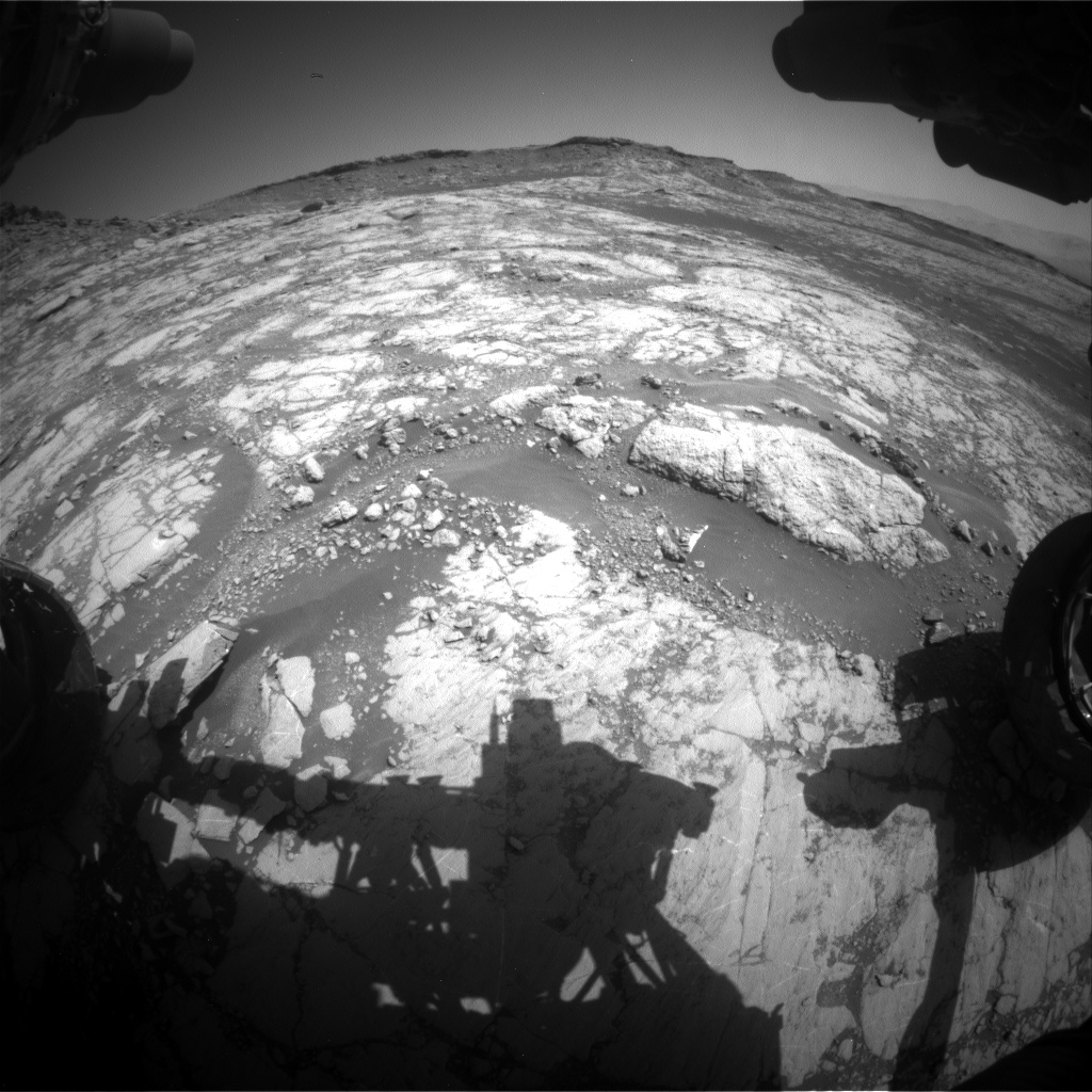 Nasa's Mars rover Curiosity acquired this image using its Front Hazard Avoidance Camera (Front Hazcam) on Sol 2654, at drive 1946, site number 78