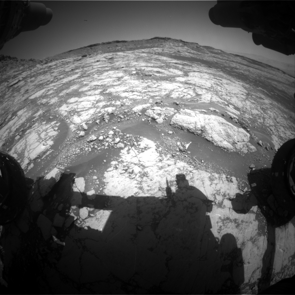 Nasa's Mars rover Curiosity acquired this image using its Front Hazard Avoidance Camera (Front Hazcam) on Sol 2655, at drive 1946, site number 78