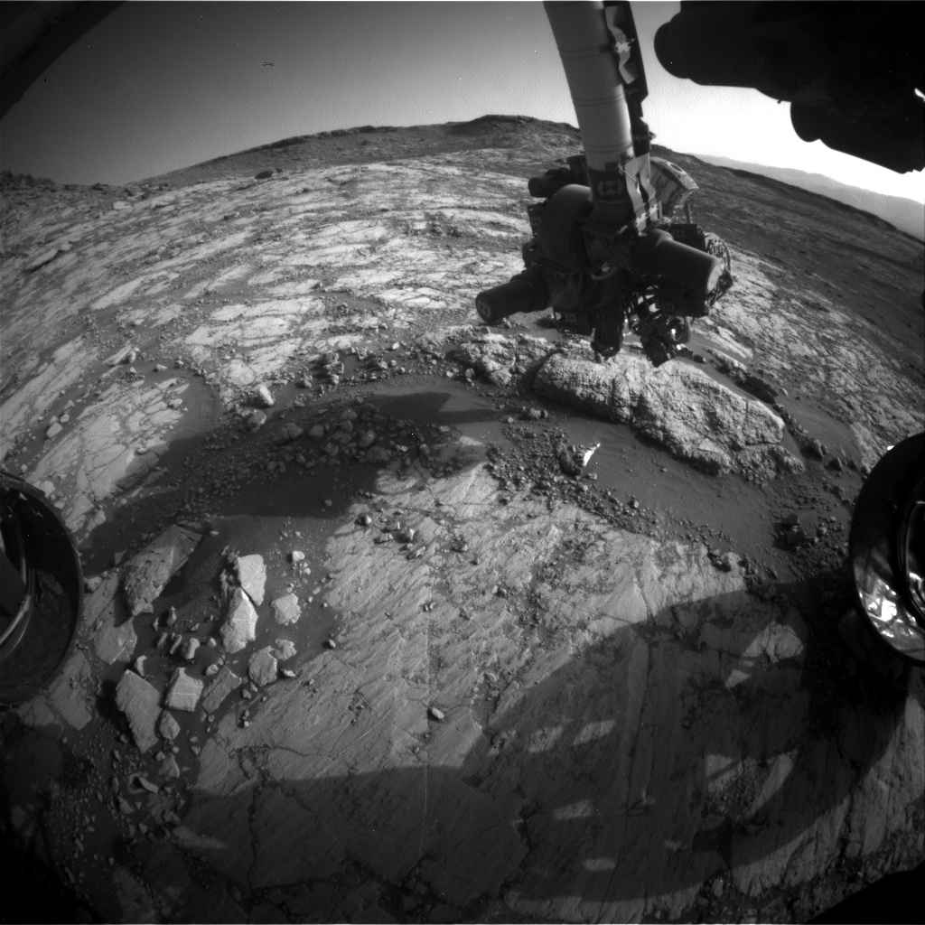 Nasa's Mars rover Curiosity acquired this image using its Front Hazard Avoidance Camera (Front Hazcam) on Sol 2656, at drive 1946, site number 78