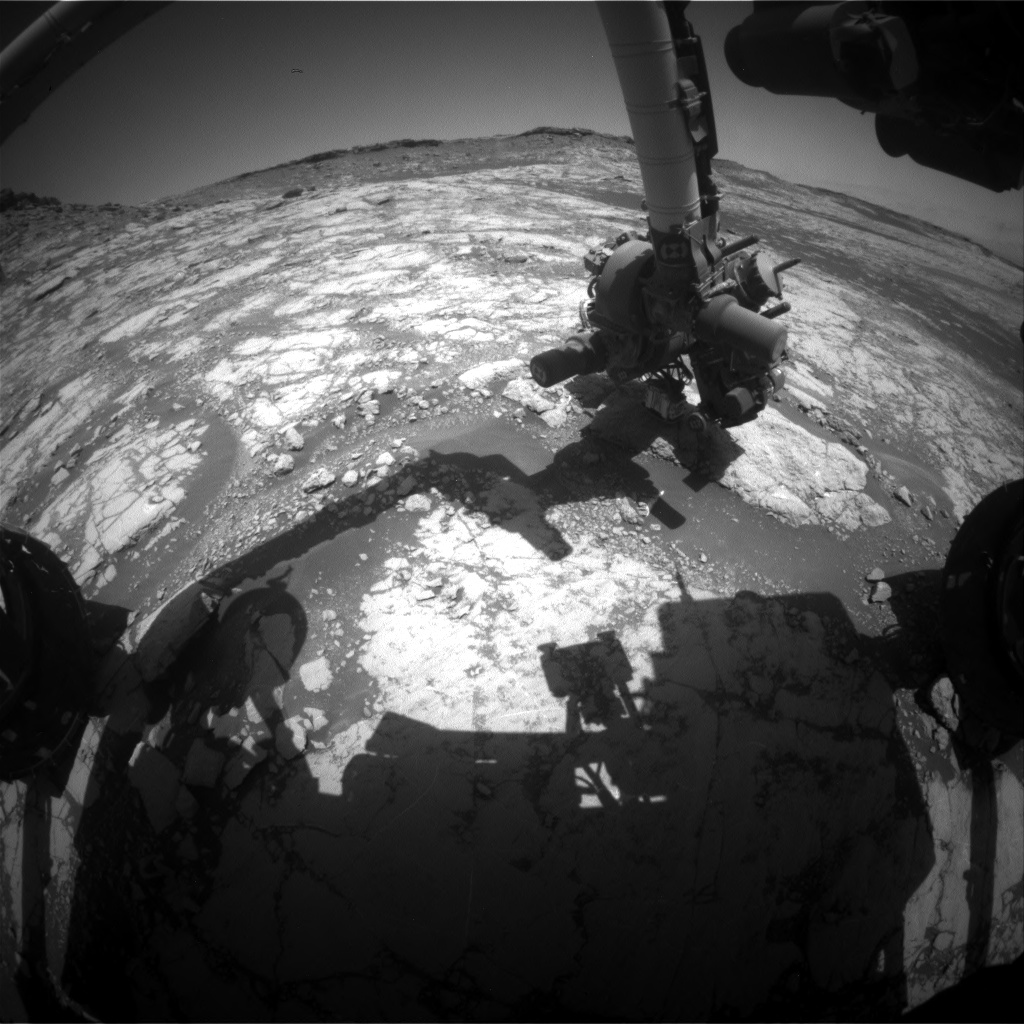 Nasa's Mars rover Curiosity acquired this image using its Front Hazard Avoidance Camera (Front Hazcam) on Sol 2657, at drive 1946, site number 78