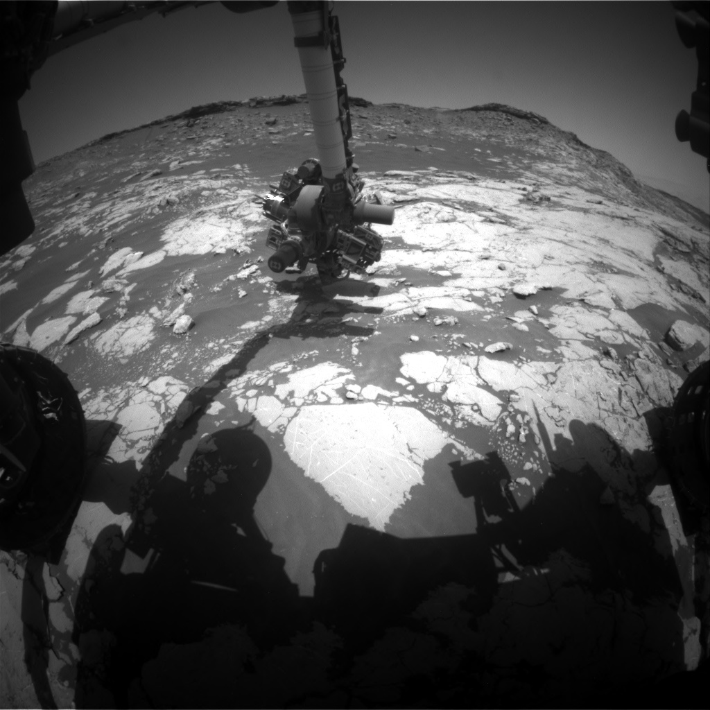 Nasa's Mars rover Curiosity acquired this image using its Front Hazard Avoidance Camera (Front Hazcam) on Sol 2658, at drive 2228, site number 78