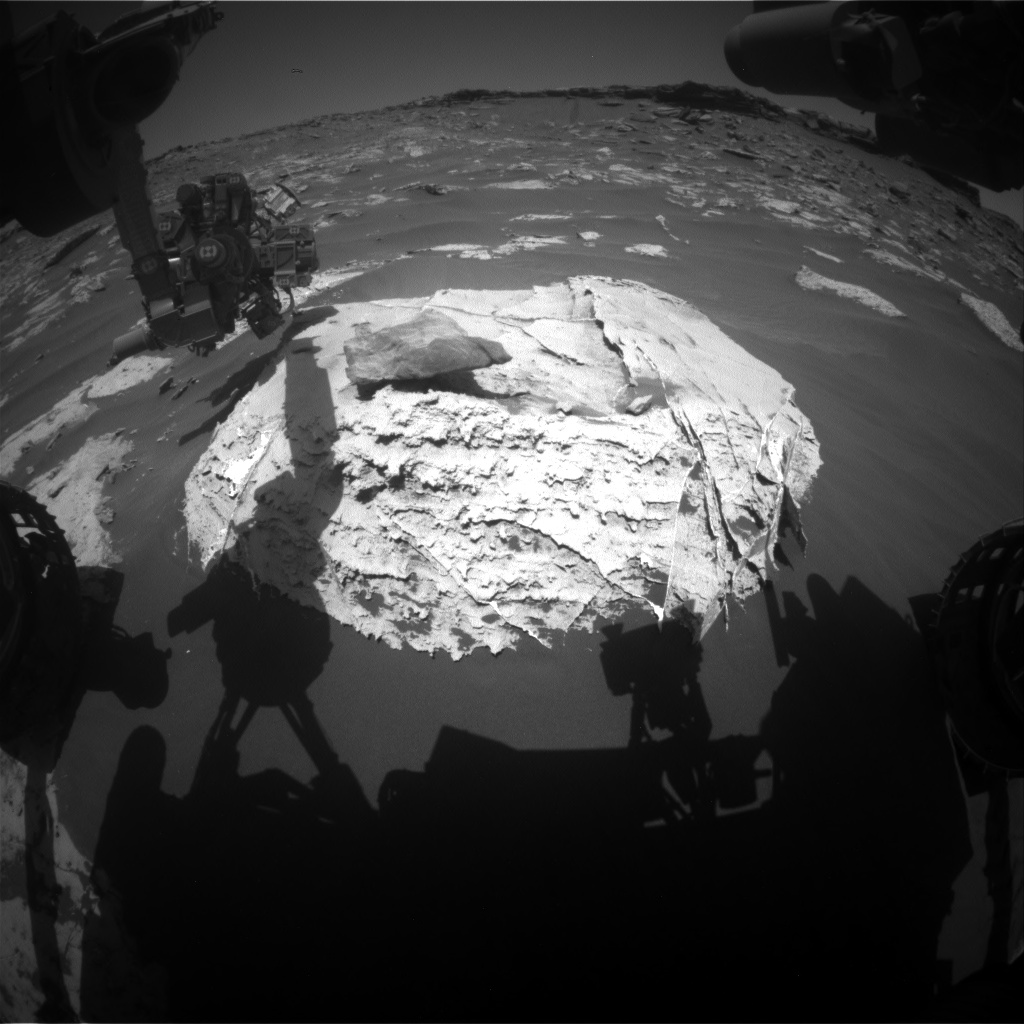 Nasa's Mars rover Curiosity acquired this image using its Front Hazard Avoidance Camera (Front Hazcam) on Sol 2659, at drive 2444, site number 78