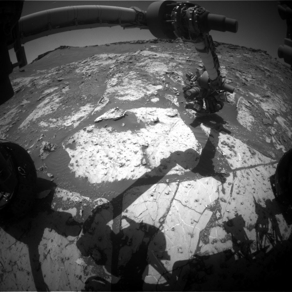Nasa's Mars rover Curiosity acquired this image using its Front Hazard Avoidance Camera (Front Hazcam) on Sol 2661, at drive 2684, site number 78