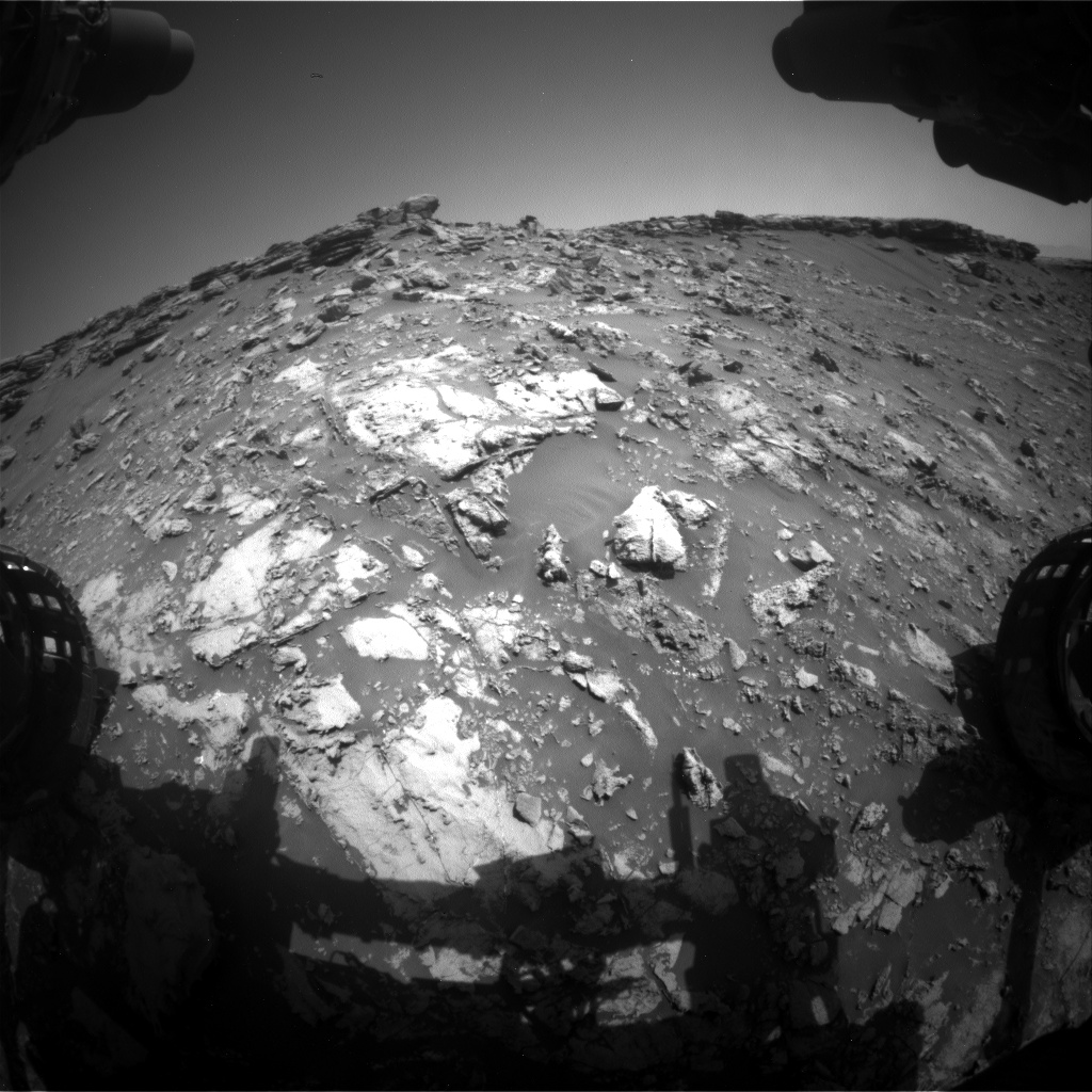 Nasa's Mars rover Curiosity acquired this image using its Front Hazard Avoidance Camera (Front Hazcam) on Sol 2661, at drive 2858, site number 78