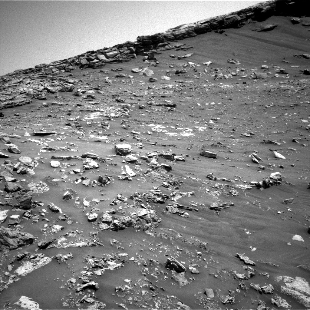 Nasa's Mars rover Curiosity acquired this image using its Left Navigation Camera on Sol 2661, at drive 2858, site number 78