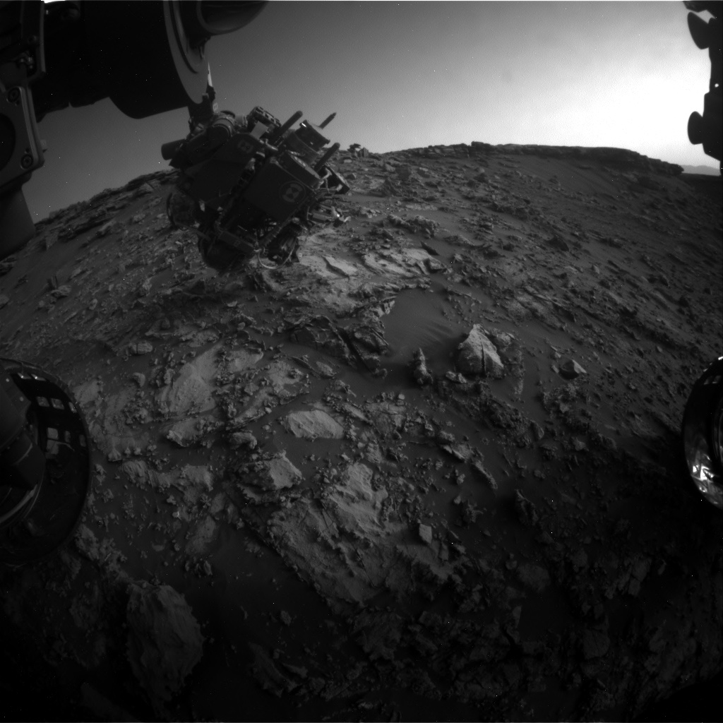 Nasa's Mars rover Curiosity acquired this image using its Front Hazard Avoidance Camera (Front Hazcam) on Sol 2662, at drive 2858, site number 78