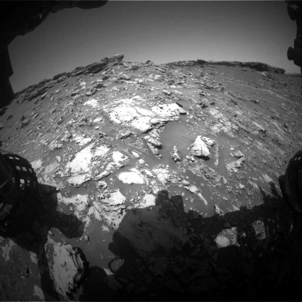 Nasa's Mars rover Curiosity acquired this image using its Front Hazard Avoidance Camera (Front Hazcam) on Sol 2663, at drive 2858, site number 78