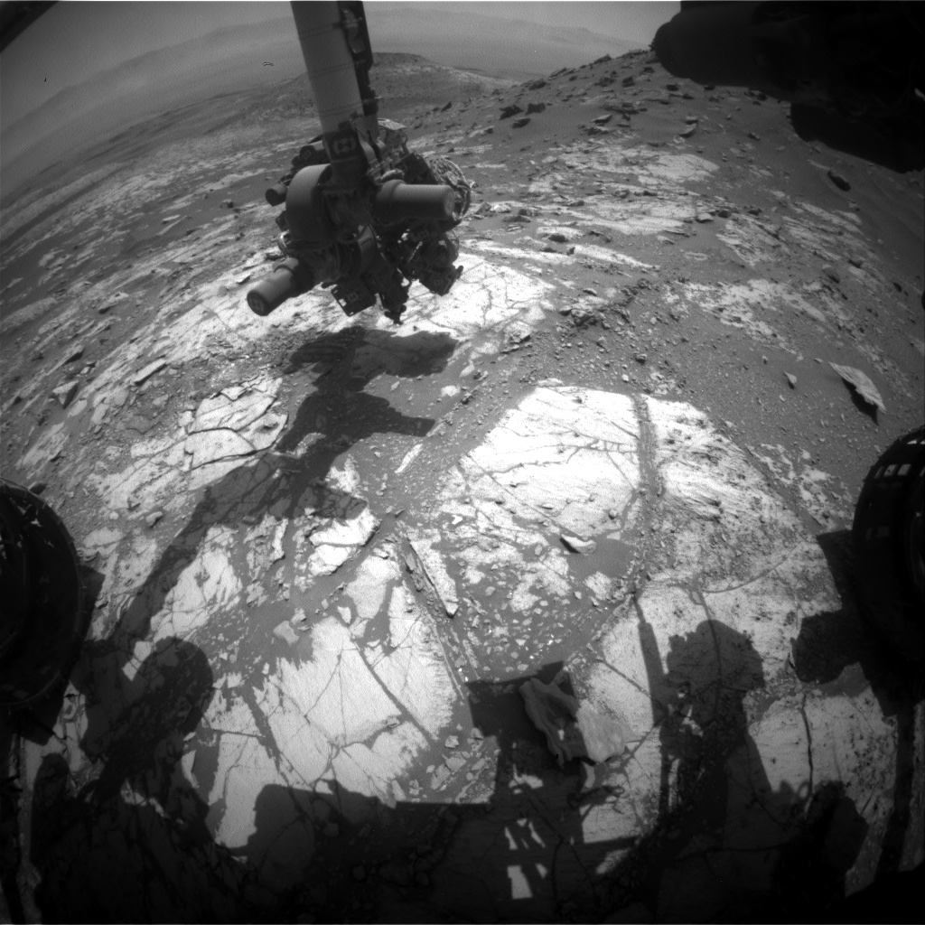 Nasa's Mars rover Curiosity acquired this image using its Front Hazard Avoidance Camera (Front Hazcam) on Sol 2665, at drive 0, site number 79