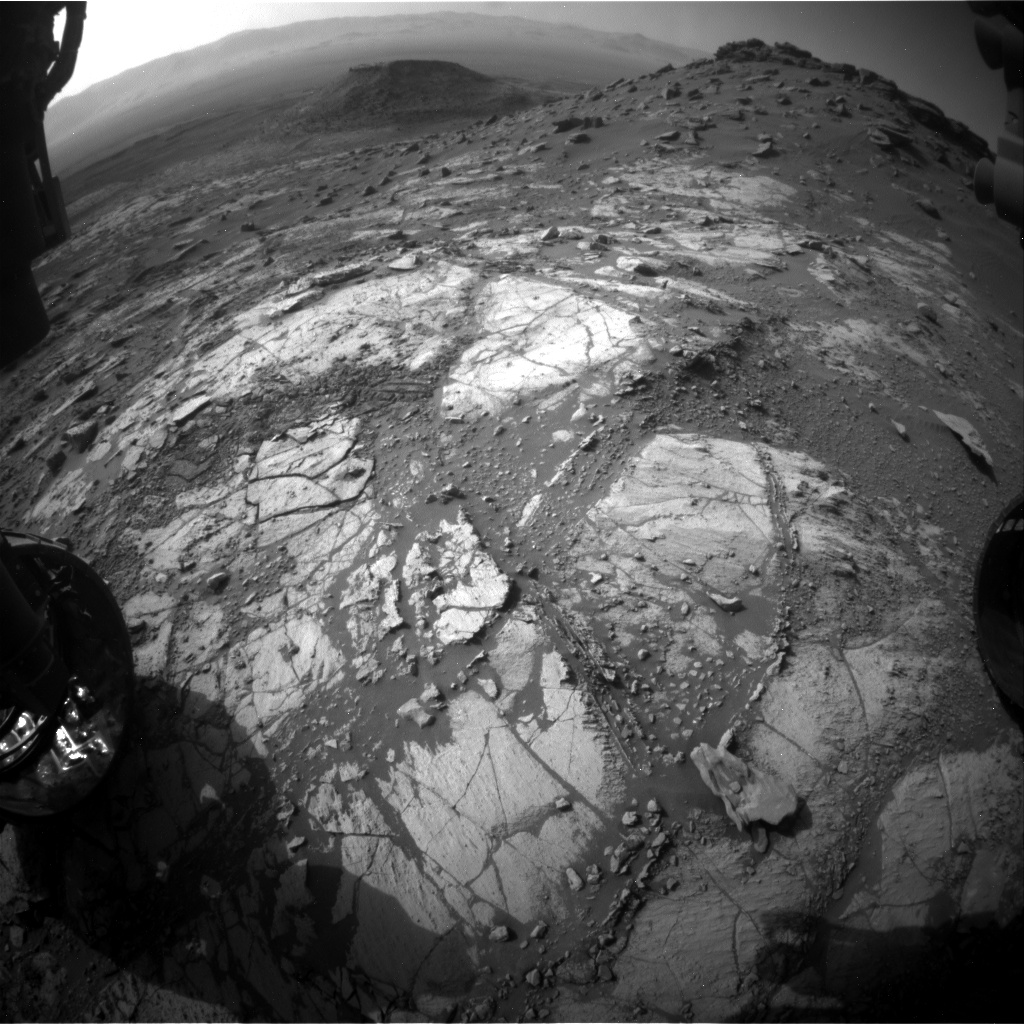 Nasa's Mars rover Curiosity acquired this image using its Front Hazard Avoidance Camera (Front Hazcam) on Sol 2667, at drive 0, site number 79