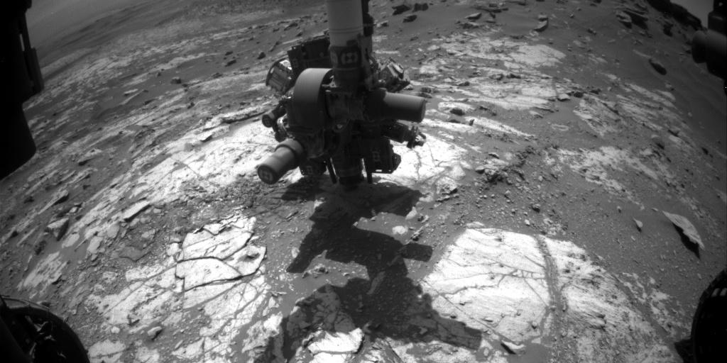 Nasa's Mars rover Curiosity acquired this image using its Front Hazard Avoidance Camera (Front Hazcam) on Sol 2668, at drive 0, site number 79