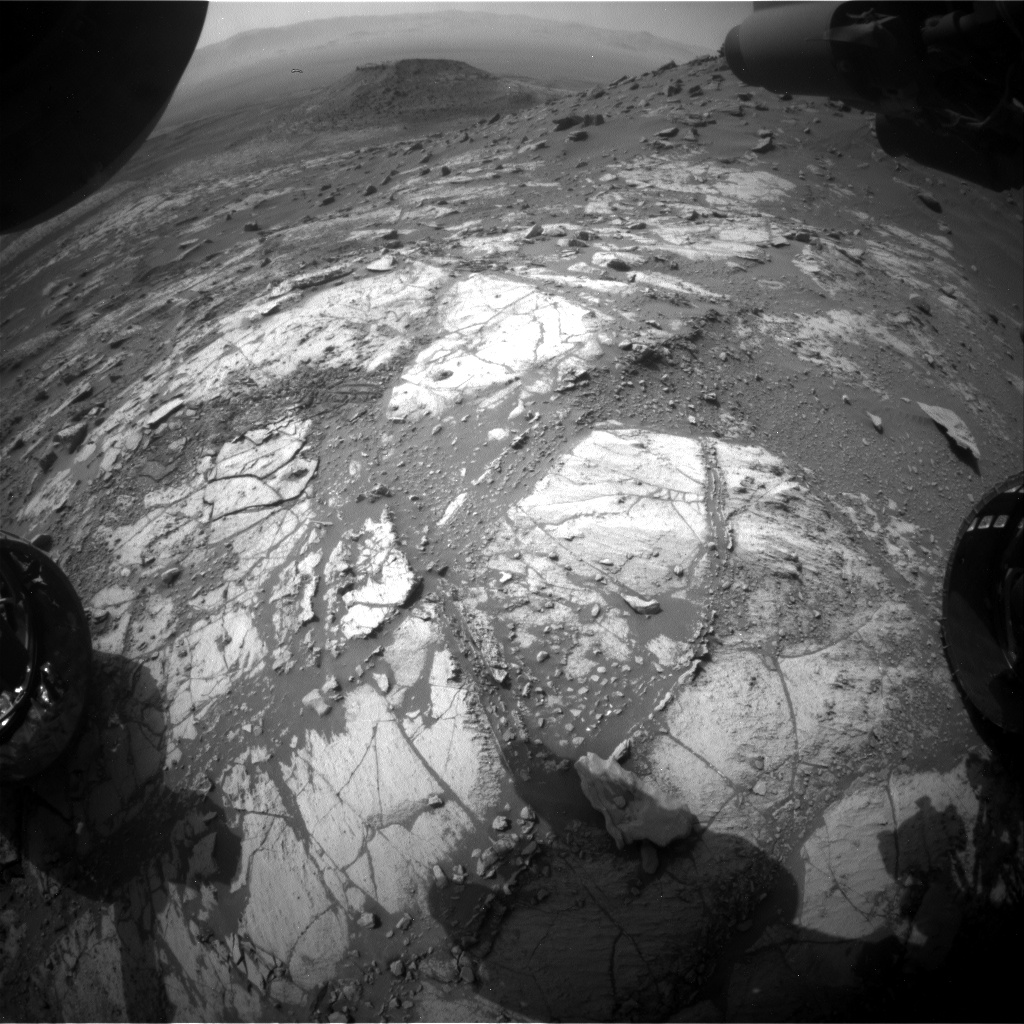 Nasa's Mars rover Curiosity acquired this image using its Front Hazard Avoidance Camera (Front Hazcam) on Sol 2669, at drive 0, site number 79