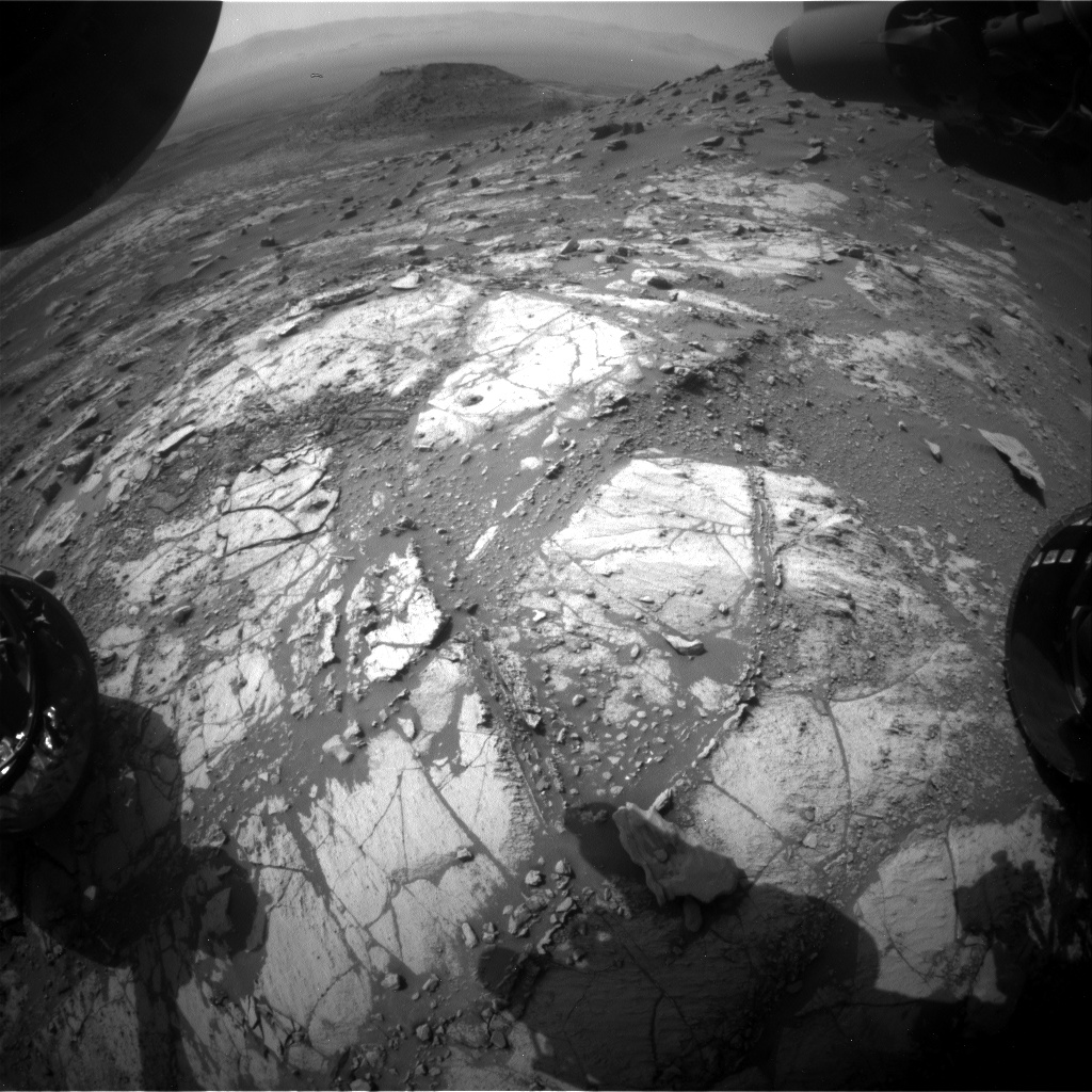 Nasa's Mars rover Curiosity acquired this image using its Front Hazard Avoidance Camera (Front Hazcam) on Sol 2670, at drive 0, site number 79