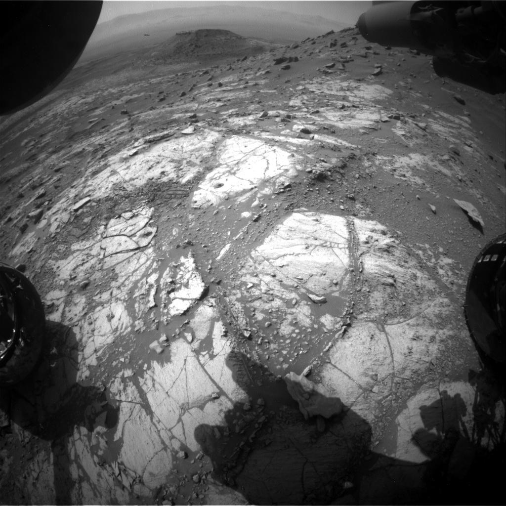Nasa's Mars rover Curiosity acquired this image using its Front Hazard Avoidance Camera (Front Hazcam) on Sol 2671, at drive 0, site number 79