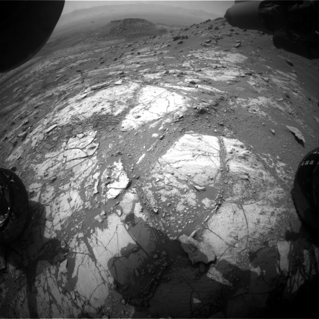 Nasa's Mars rover Curiosity acquired this image using its Front Hazard Avoidance Camera (Front Hazcam) on Sol 2672, at drive 0, site number 79