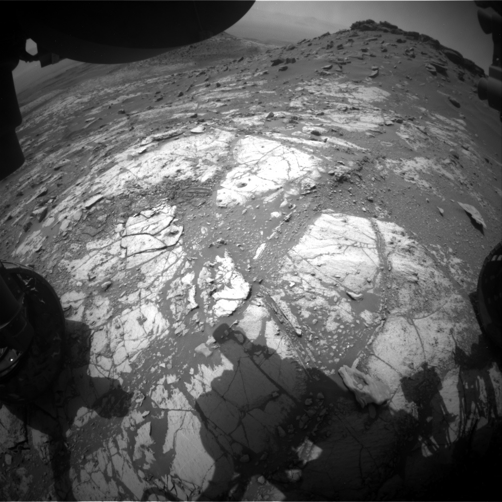 Nasa's Mars rover Curiosity acquired this image using its Front Hazard Avoidance Camera (Front Hazcam) on Sol 2674, at drive 0, site number 79