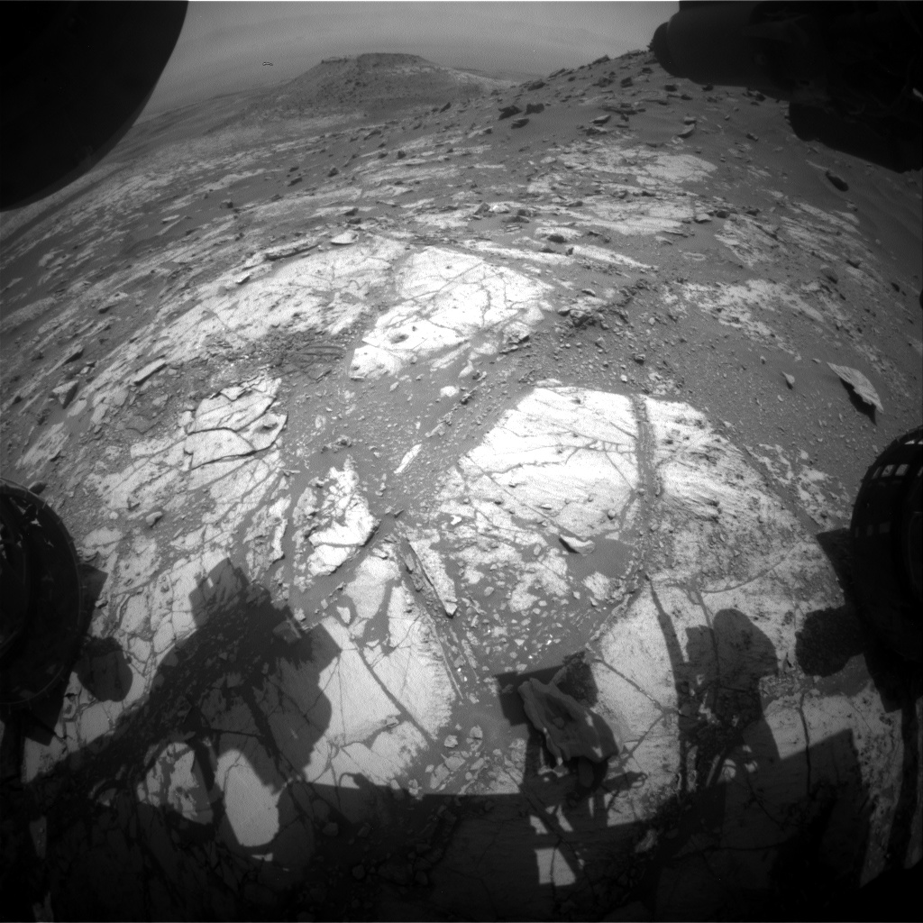 Nasa's Mars rover Curiosity acquired this image using its Front Hazard Avoidance Camera (Front Hazcam) on Sol 2675, at drive 0, site number 79