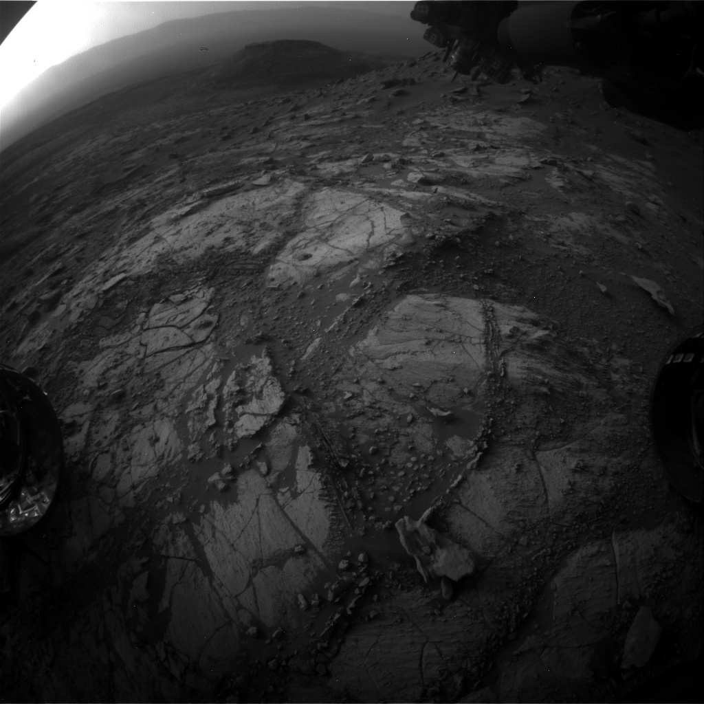 Nasa's Mars rover Curiosity acquired this image using its Front Hazard Avoidance Camera (Front Hazcam) on Sol 2676, at drive 0, site number 79