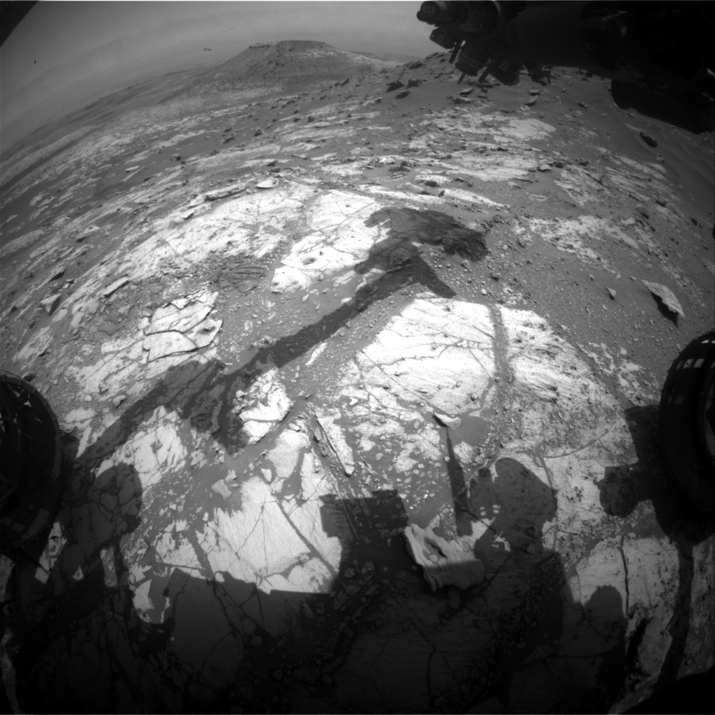 Nasa's Mars rover Curiosity acquired this image using its Front Hazard Avoidance Camera (Front Hazcam) on Sol 2678, at drive 0, site number 79