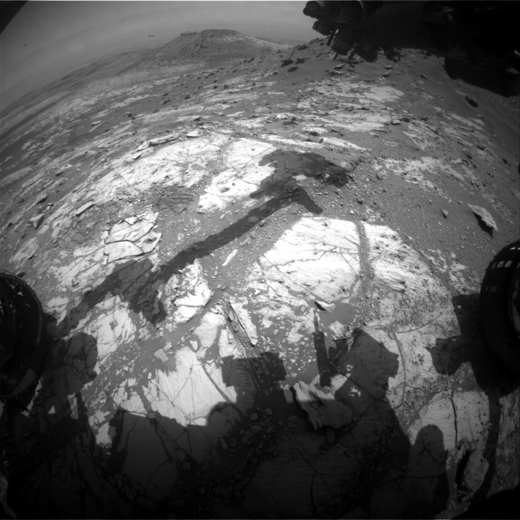 Nasa's Mars rover Curiosity acquired this image using its Front Hazard Avoidance Camera (Front Hazcam) on Sol 2679, at drive 0, site number 79