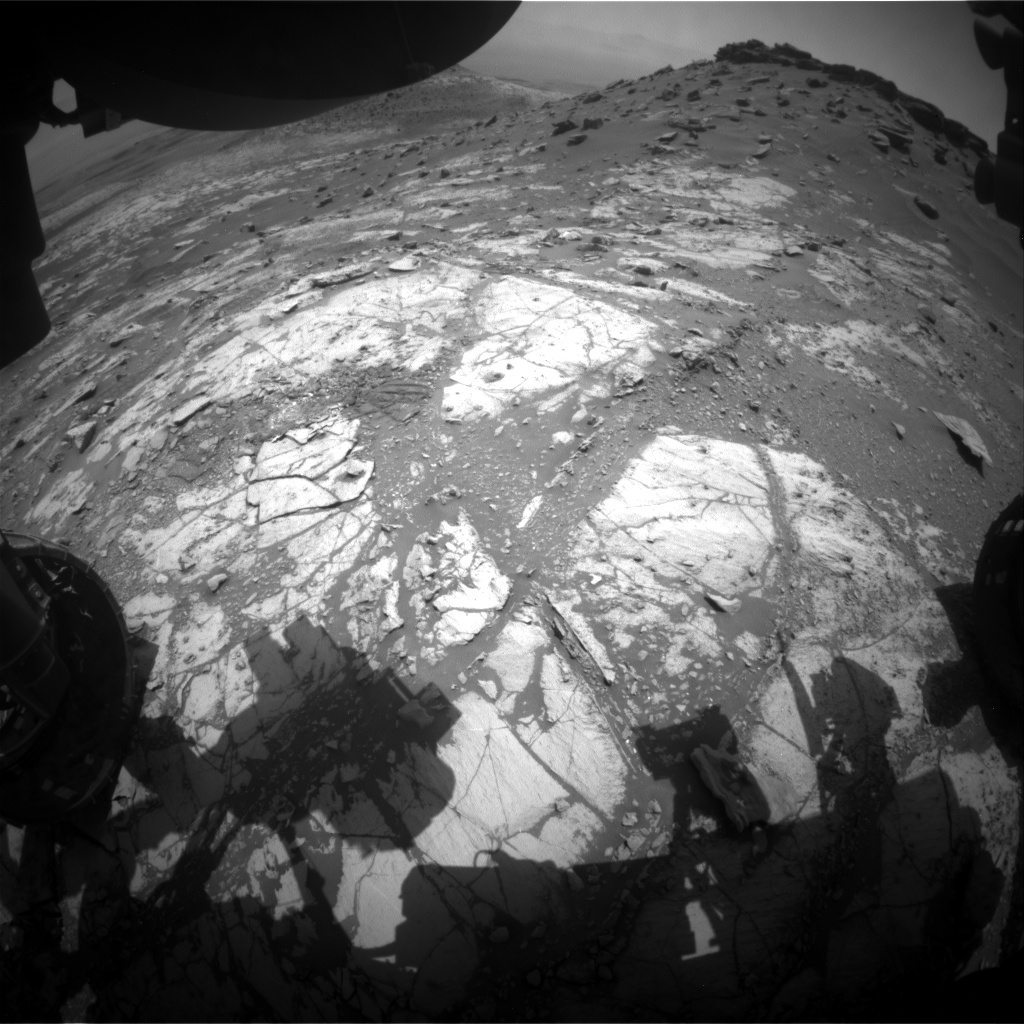 Nasa's Mars rover Curiosity acquired this image using its Front Hazard Avoidance Camera (Front Hazcam) on Sol 2680, at drive 0, site number 79