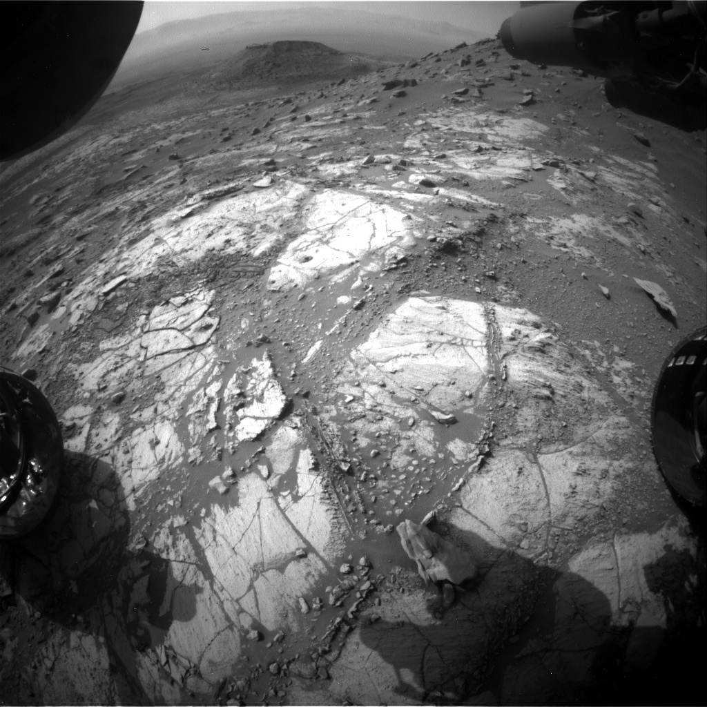 Nasa's Mars rover Curiosity acquired this image using its Front Hazard Avoidance Camera (Front Hazcam) on Sol 2681, at drive 0, site number 79
