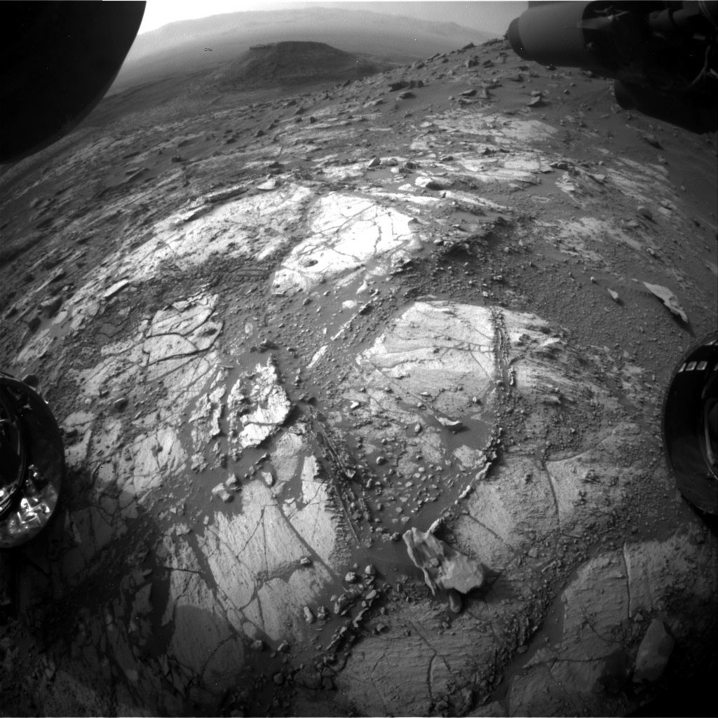 Nasa's Mars rover Curiosity acquired this image using its Front Hazard Avoidance Camera (Front Hazcam) on Sol 2682, at drive 0, site number 79
