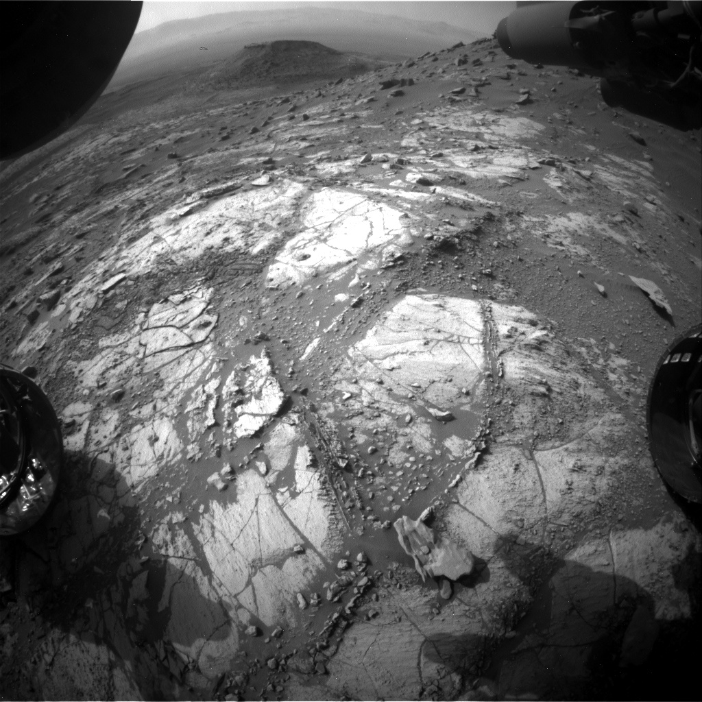 Nasa's Mars rover Curiosity acquired this image using its Front Hazard Avoidance Camera (Front Hazcam) on Sol 2683, at drive 0, site number 79