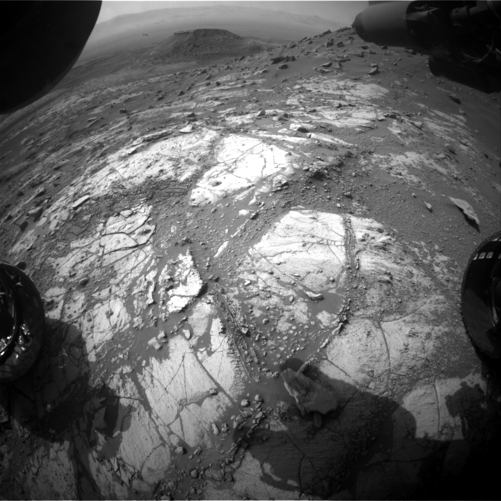 Nasa's Mars rover Curiosity acquired this image using its Front Hazard Avoidance Camera (Front Hazcam) on Sol 2684, at drive 0, site number 79