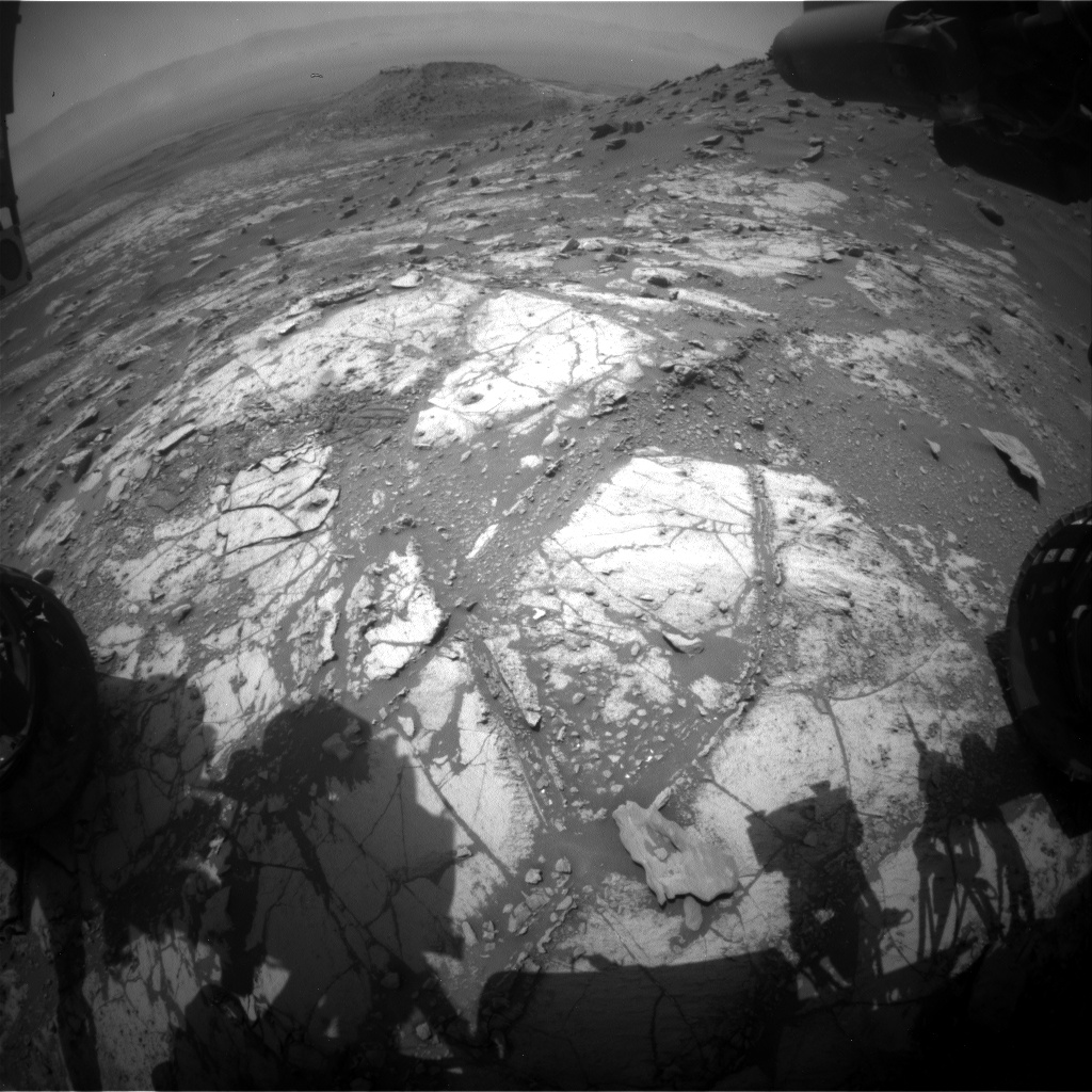 Nasa's Mars rover Curiosity acquired this image using its Front Hazard Avoidance Camera (Front Hazcam) on Sol 2685, at drive 0, site number 79