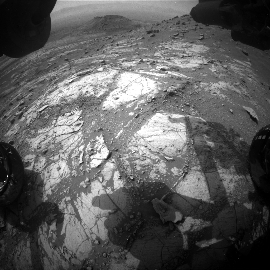Nasa's Mars rover Curiosity acquired this image using its Front Hazard Avoidance Camera (Front Hazcam) on Sol 2686, at drive 0, site number 79