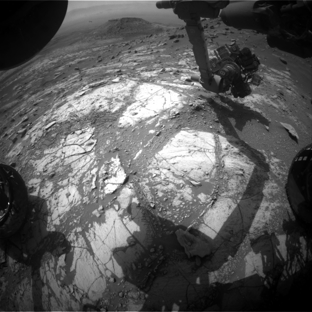 Nasa's Mars rover Curiosity acquired this image using its Front Hazard Avoidance Camera (Front Hazcam) on Sol 2687, at drive 0, site number 79