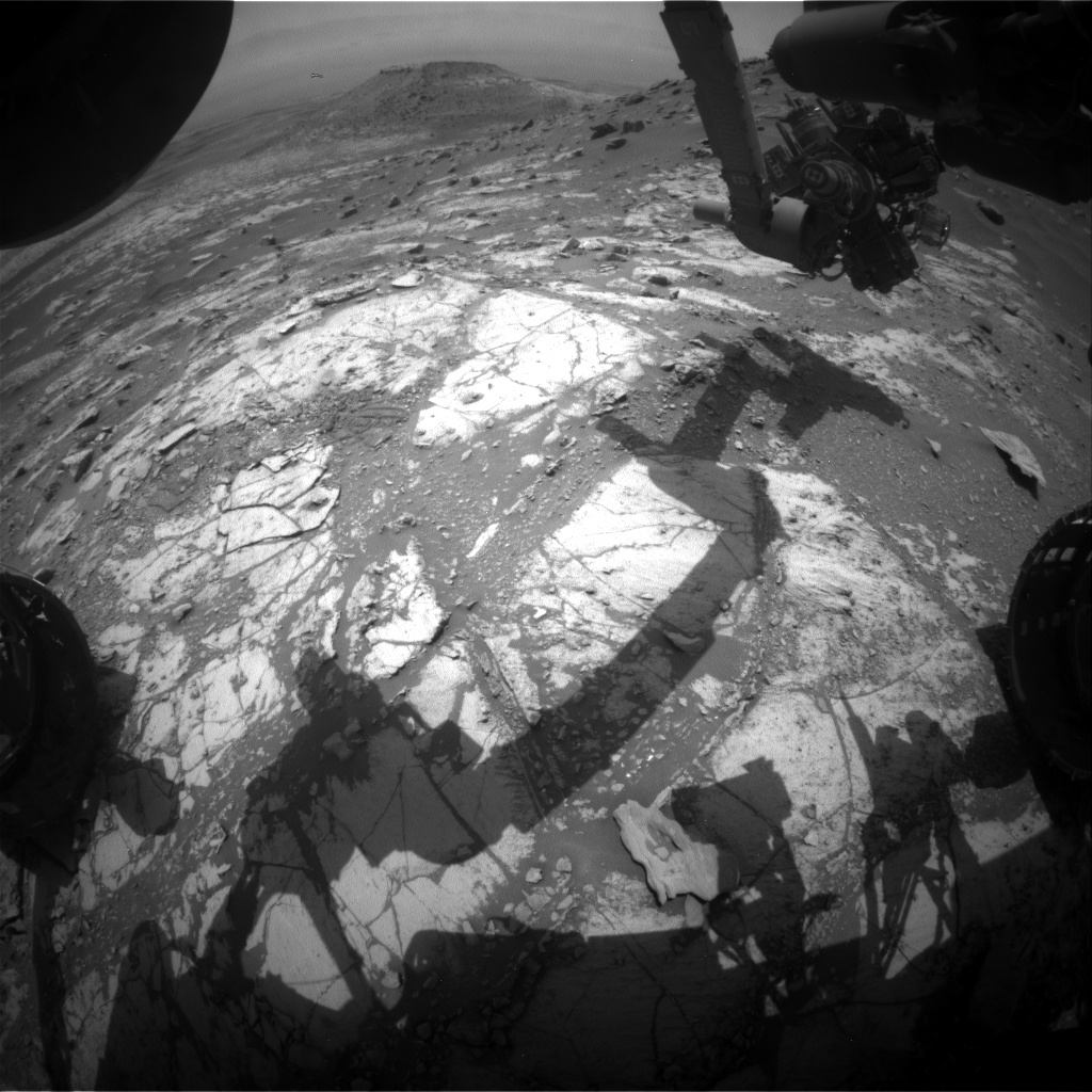 Nasa's Mars rover Curiosity acquired this image using its Front Hazard Avoidance Camera (Front Hazcam) on Sol 2689, at drive 0, site number 79