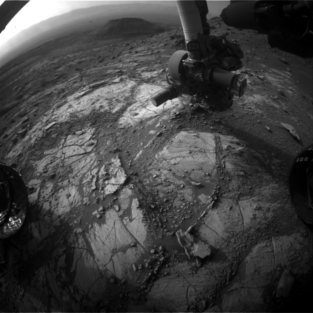 Nasa's Mars rover Curiosity acquired this image using its Front Hazard Avoidance Camera (Front Hazcam) on Sol 2690, at drive 0, site number 79