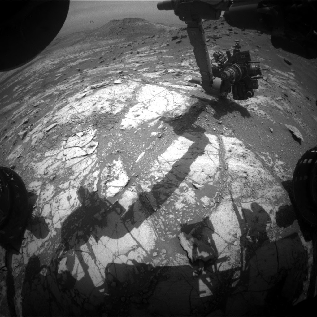 Nasa's Mars rover Curiosity acquired this image using its Front Hazard Avoidance Camera (Front Hazcam) on Sol 2691, at drive 0, site number 79