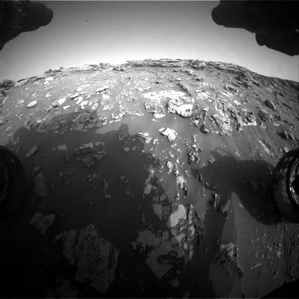 Nasa's Mars rover Curiosity acquired this image using its Front Hazard Avoidance Camera (Front Hazcam) on Sol 2691, at drive 228, site number 79
