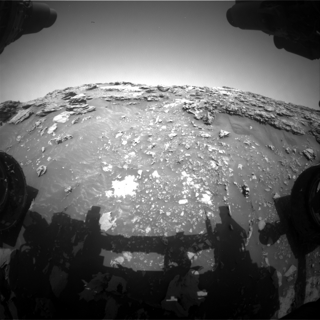 Nasa's Mars rover Curiosity acquired this image using its Front Hazard Avoidance Camera (Front Hazcam) on Sol 2692, at drive 252, site number 79