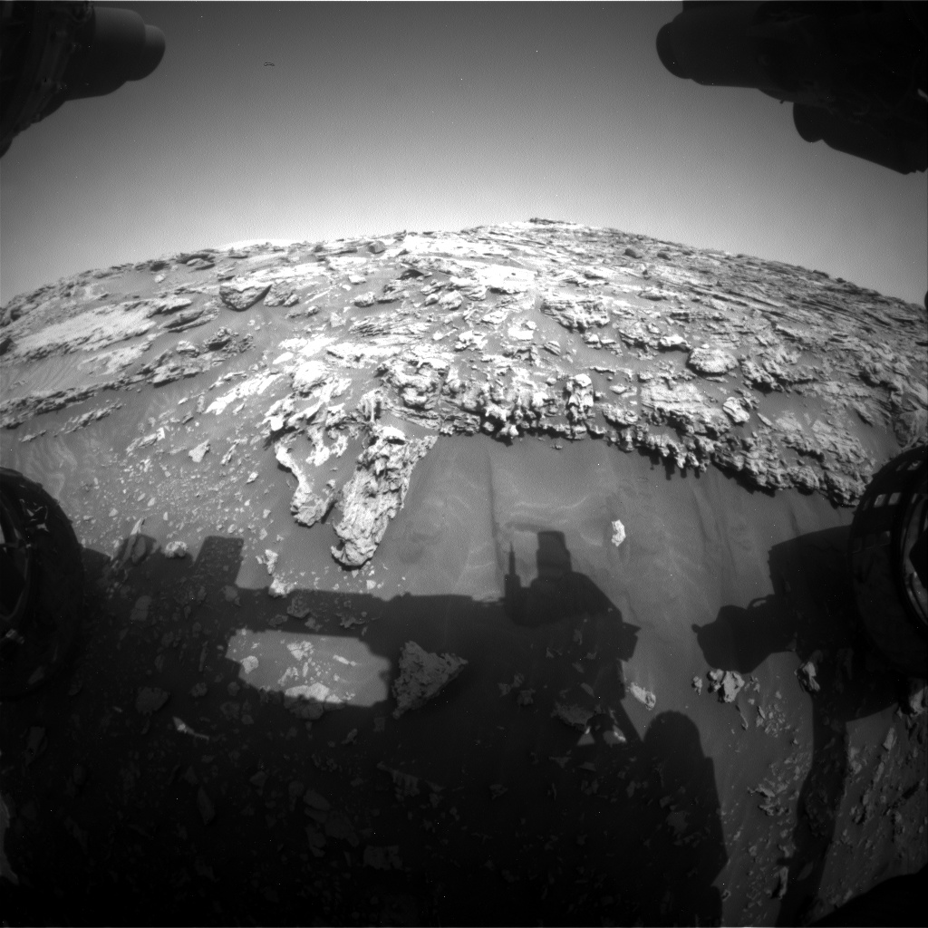 Nasa's Mars rover Curiosity acquired this image using its Front Hazard Avoidance Camera (Front Hazcam) on Sol 2693, at drive 294, site number 79