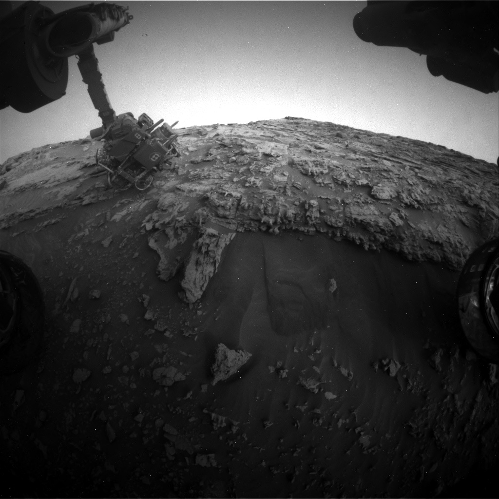Nasa's Mars rover Curiosity acquired this image using its Front Hazard Avoidance Camera (Front Hazcam) on Sol 2694, at drive 294, site number 79