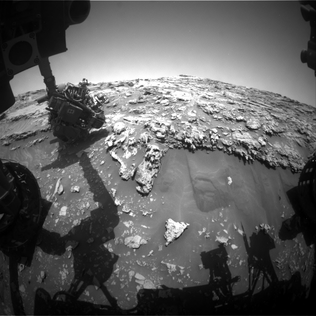 Nasa's Mars rover Curiosity acquired this image using its Front Hazard Avoidance Camera (Front Hazcam) on Sol 2695, at drive 294, site number 79