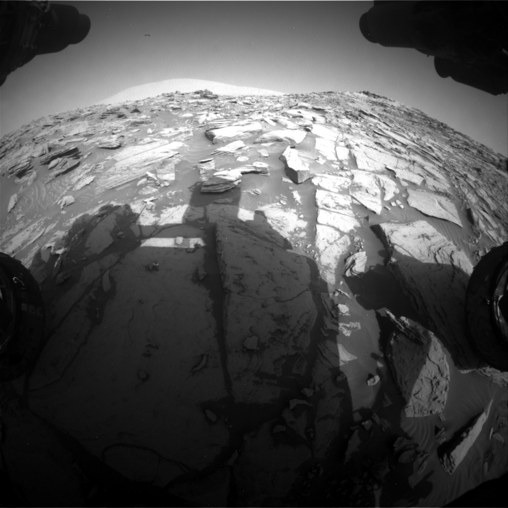 Nasa's Mars rover Curiosity acquired this image using its Front Hazard Avoidance Camera (Front Hazcam) on Sol 2695, at drive 360, site number 79