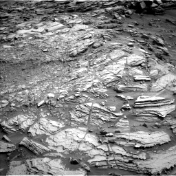 Nasa's Mars rover Curiosity acquired this image using its Left Navigation Camera on Sol 2695, at drive 348, site number 79
