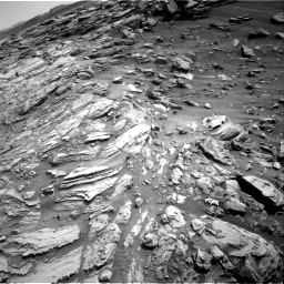 Nasa's Mars rover Curiosity acquired this image using its Right Navigation Camera on Sol 2695, at drive 330, site number 79
