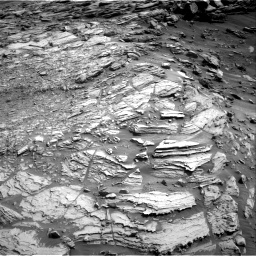 Nasa's Mars rover Curiosity acquired this image using its Right Navigation Camera on Sol 2695, at drive 348, site number 79