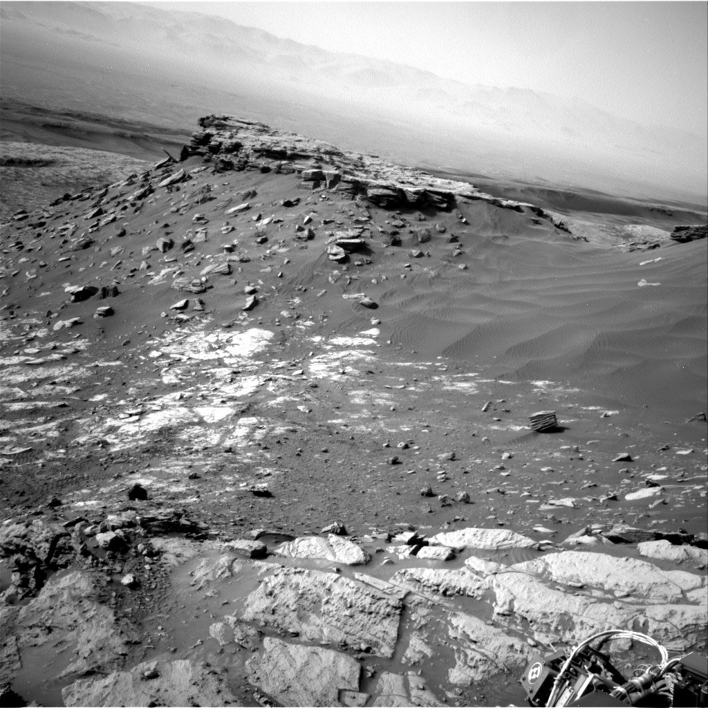 Nasa's Mars rover Curiosity acquired this image using its Right Navigation Camera on Sol 2695, at drive 360, site number 79