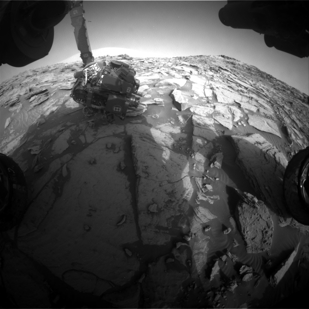 Nasa's Mars rover Curiosity acquired this image using its Front Hazard Avoidance Camera (Front Hazcam) on Sol 2696, at drive 360, site number 79