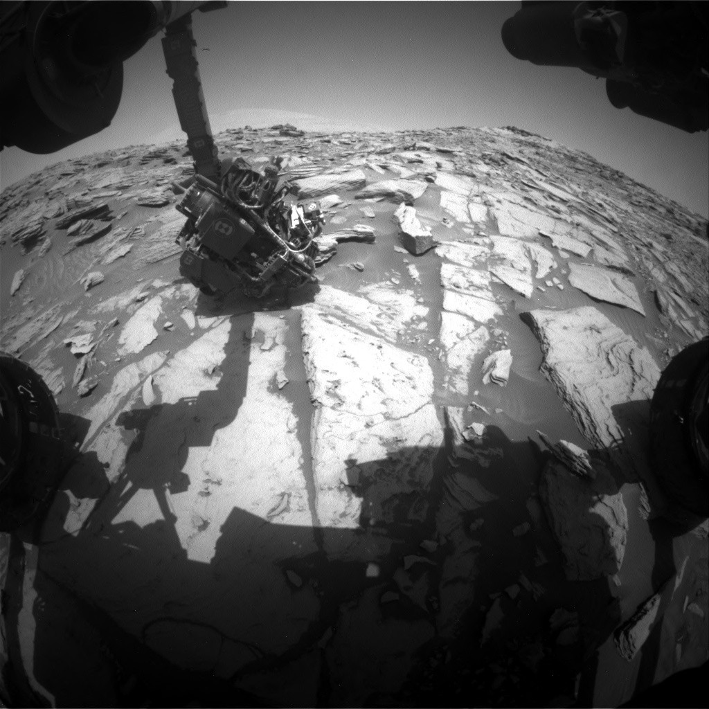 Nasa's Mars rover Curiosity acquired this image using its Front Hazard Avoidance Camera (Front Hazcam) on Sol 2697, at drive 360, site number 79