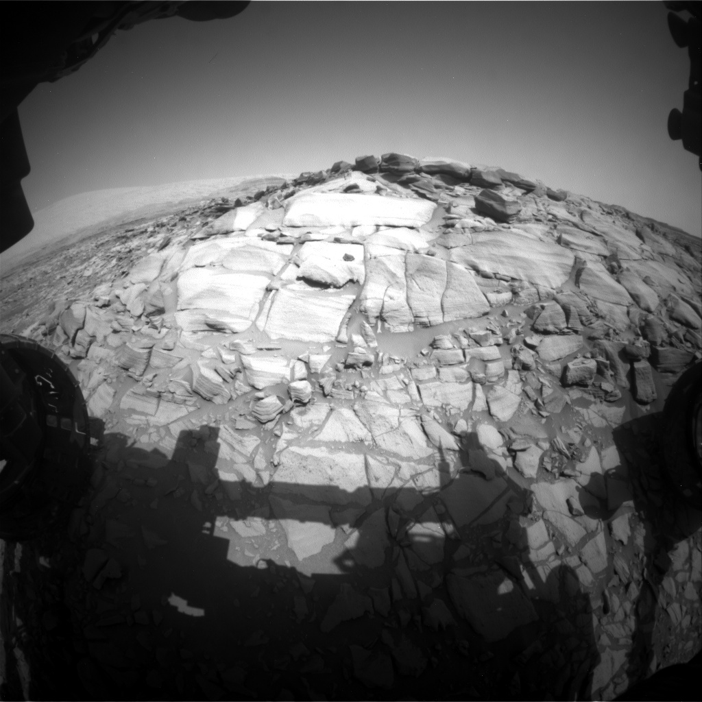 Nasa's Mars rover Curiosity acquired this image using its Front Hazard Avoidance Camera (Front Hazcam) on Sol 2698, at drive 474, site number 79