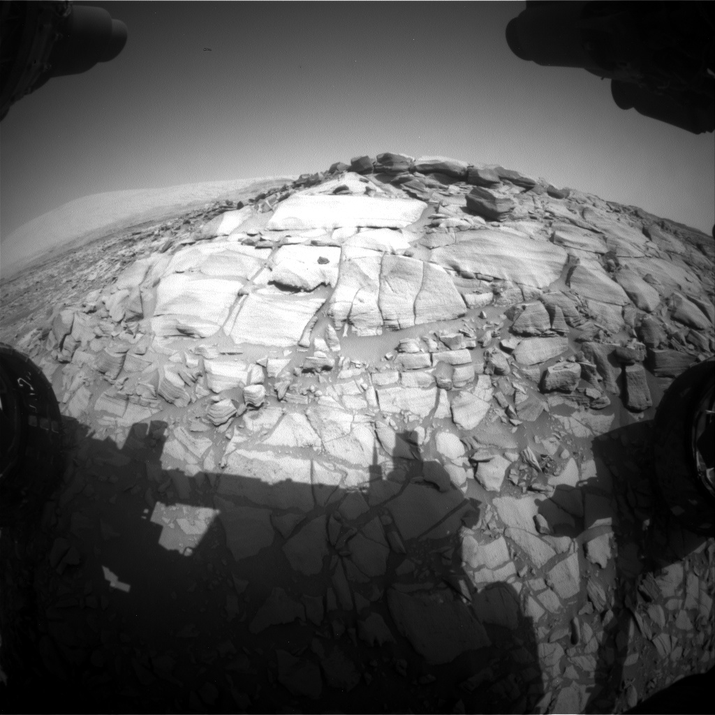 Nasa's Mars rover Curiosity acquired this image using its Front Hazard Avoidance Camera (Front Hazcam) on Sol 2699, at drive 474, site number 79
