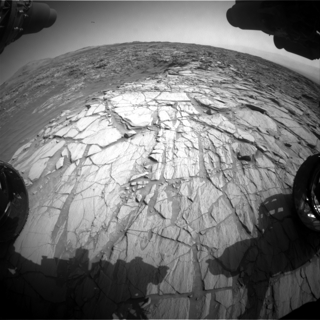 Nasa's Mars rover Curiosity acquired this image using its Front Hazard Avoidance Camera (Front Hazcam) on Sol 2700, at drive 588, site number 79