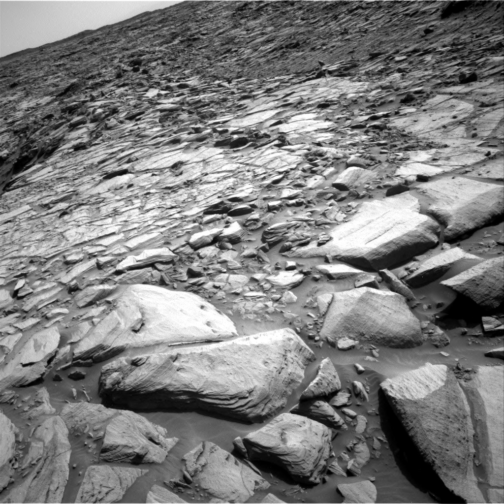 Nasa's Mars rover Curiosity acquired this image using its Right Navigation Camera on Sol 2700, at drive 546, site number 79